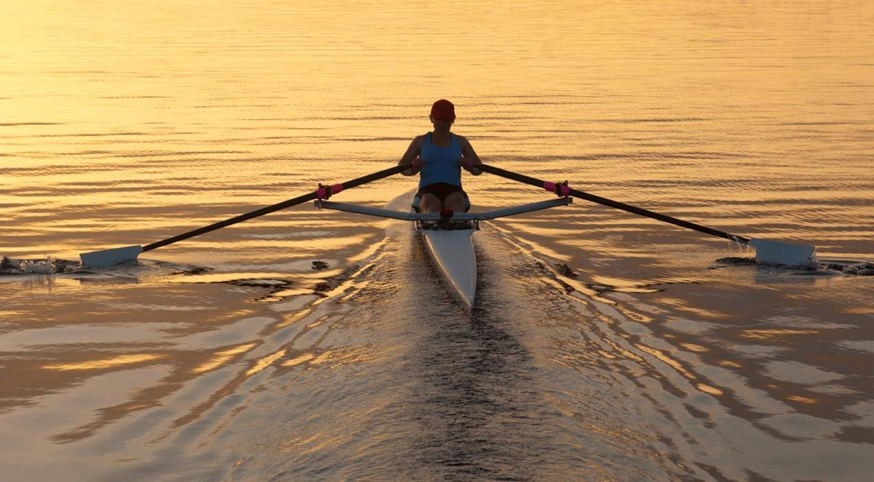 Sculling across life's waters